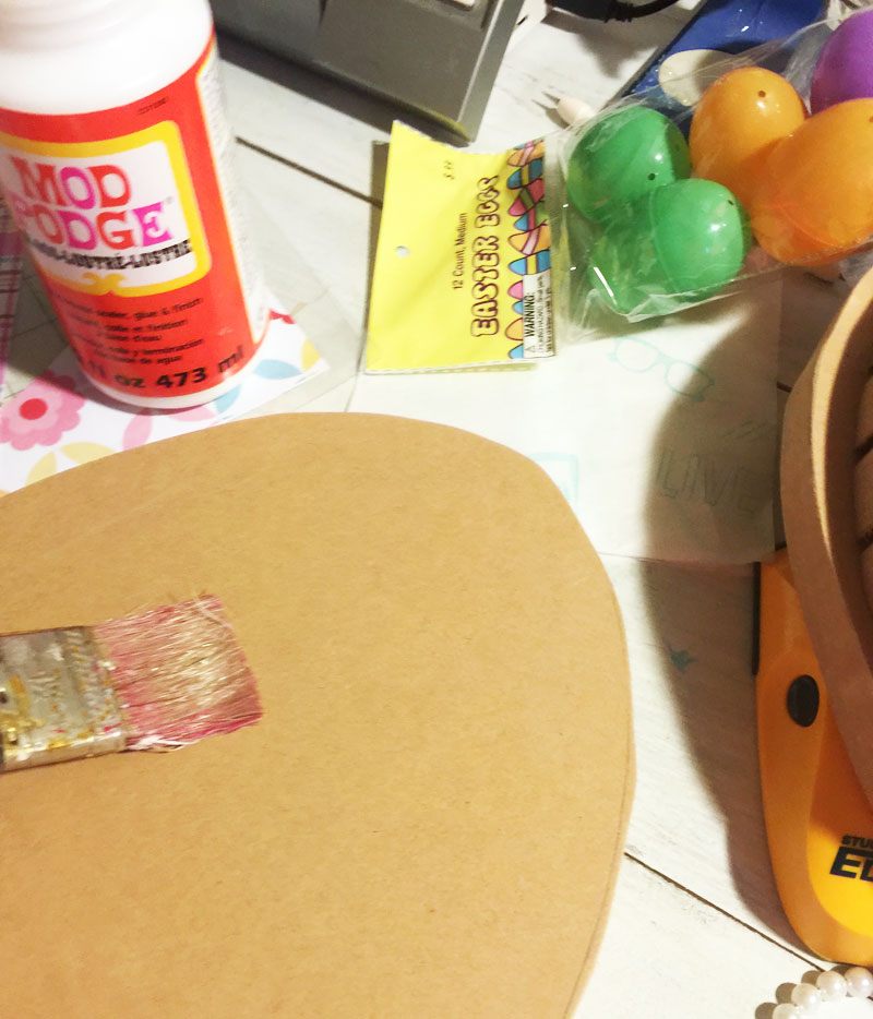 How to make decorative wooden easter eggs with wood and scrapbook paper