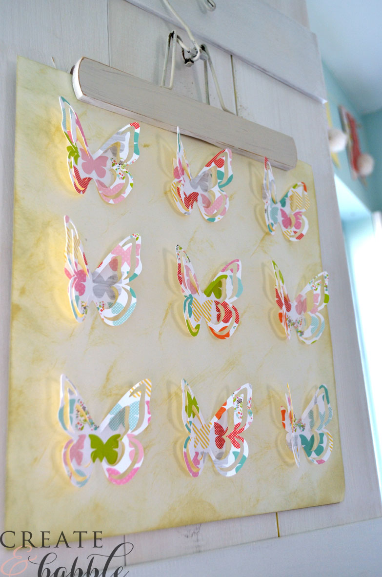 butterfly spring wall art on hangers