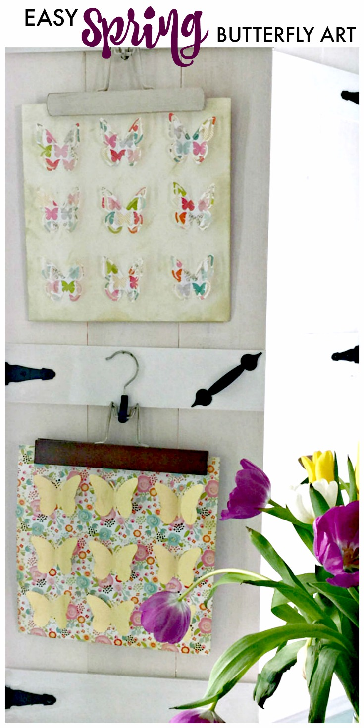 Easy Spring Wall Art made with card stock