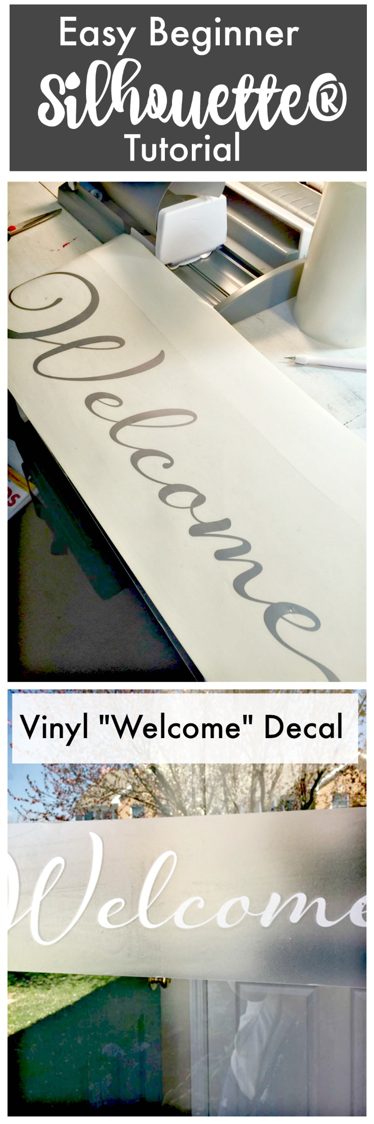 Easy Beginner Silhouette Tutorial - Vinyl Welcome Decal