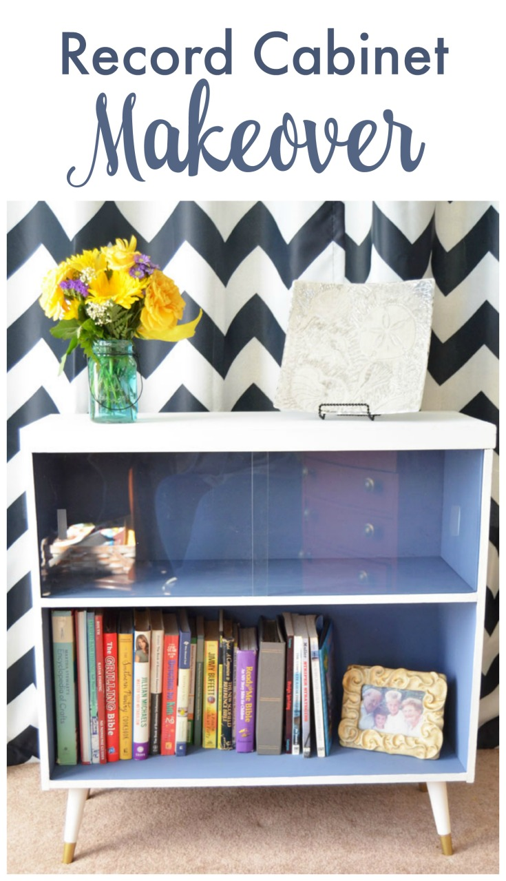 Record Cabinet Makeover