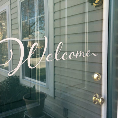 Beginner Silhouette® Project | Vinyl Door Decal