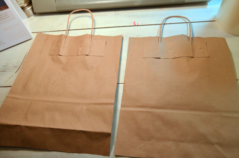 paper bag with sides removed