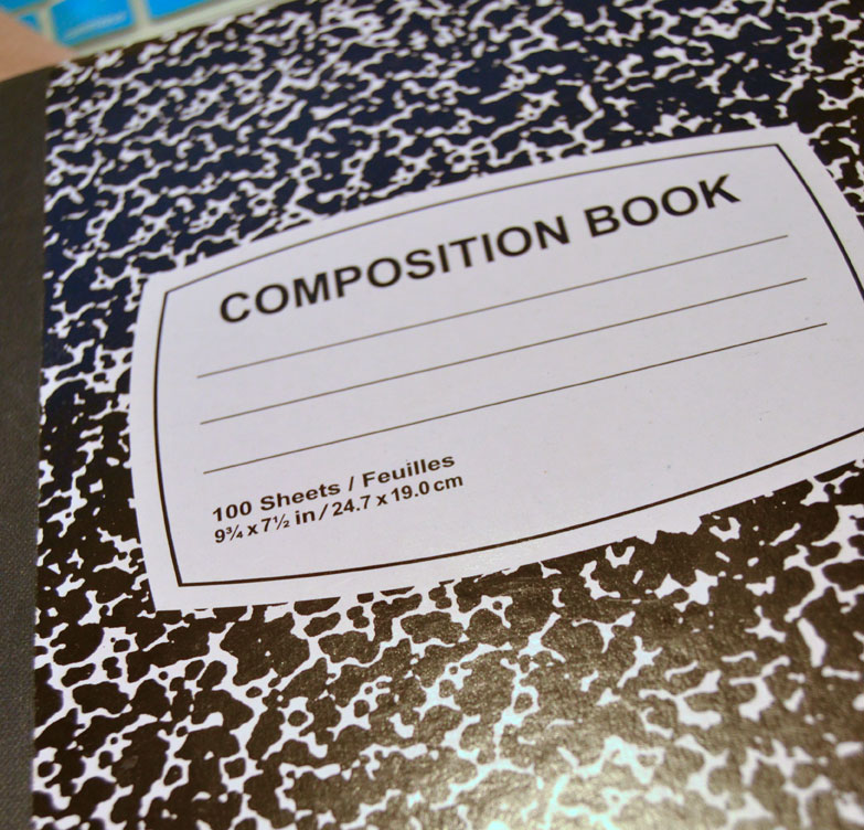 start out with a plain composition notebook