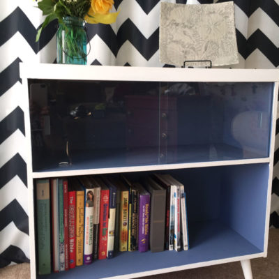 Record Cabinet Makeover with Pure & Original Paint