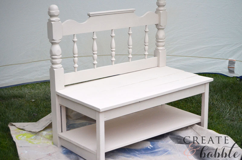 Diy Garden Bench Made With Repurposed Headboard