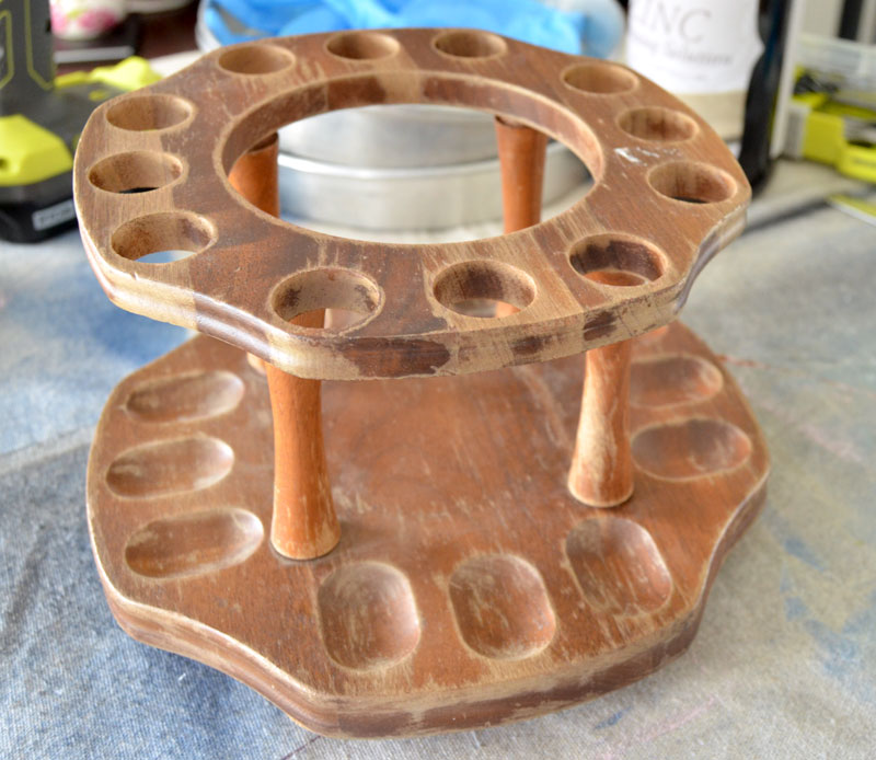 This pipe holder is going to be made into a two-tiered stand