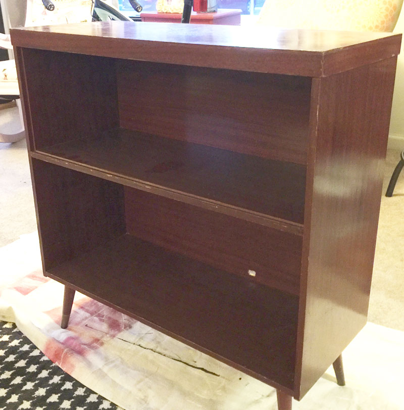 mid century modern record cabinet for makeover