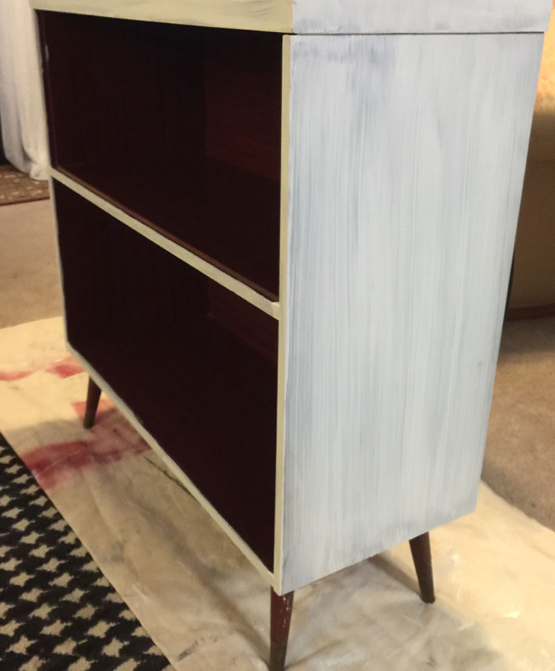 record cabinet with just one coat of pure and original paint in white