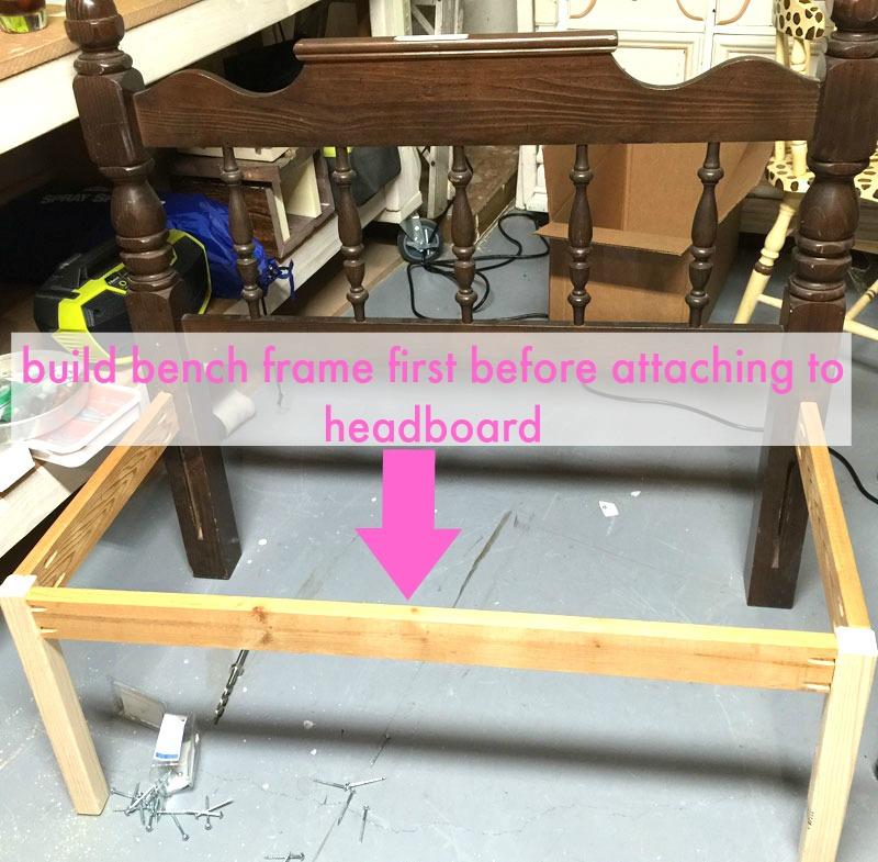 How To Make A Headboard Bench, Diy Headboard Bench With Storage