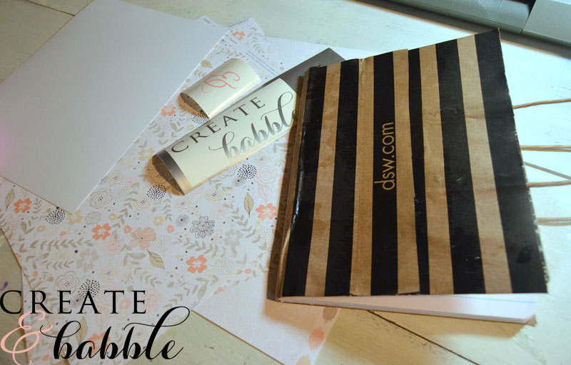 Paper Bag Book Cover With Handles : How to make pretty and personalized notebooks
