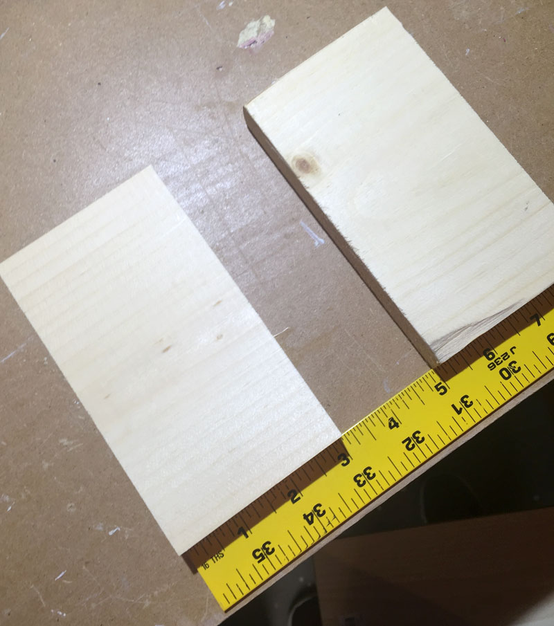 first step is to cut two 3' pieces of the 1 x 6