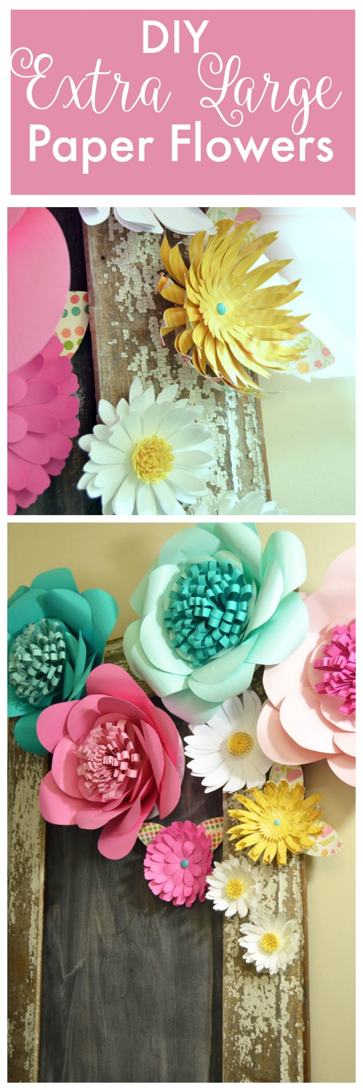 How to make huge paper flowers create and babble diy extra large paper flowers mightylinksfo Images