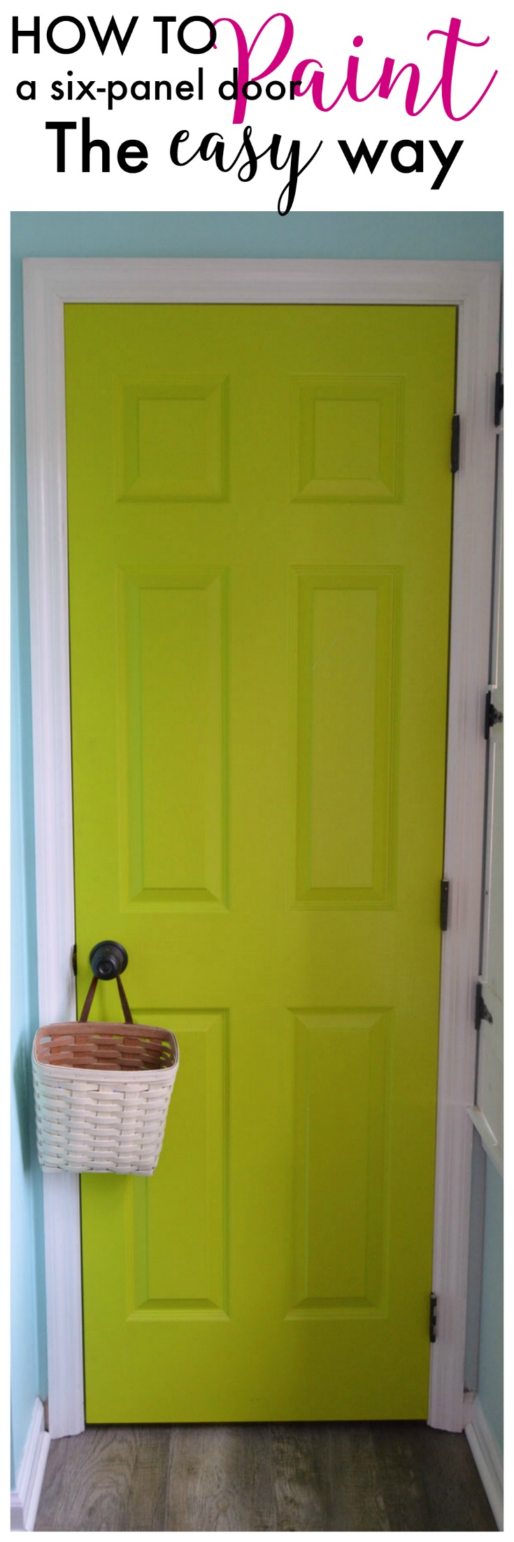 How To Paint A Six Panel Door Create And Babble