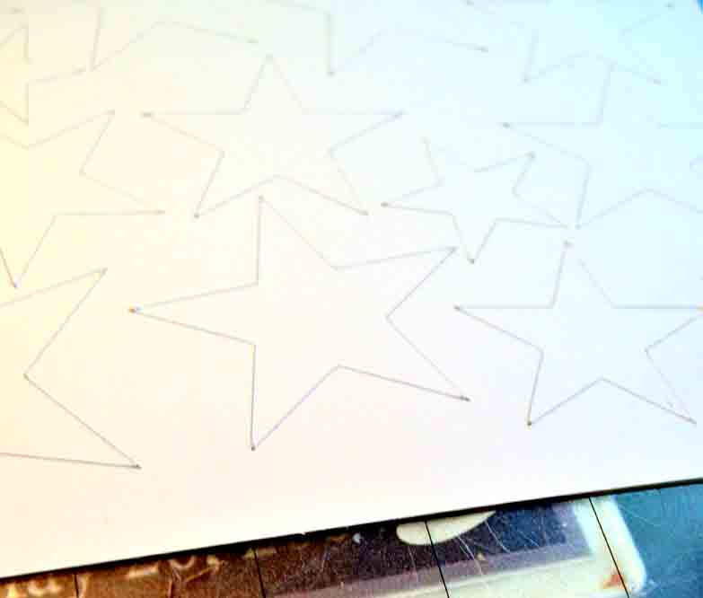 stars cut from silhouette doubled sided adhesive