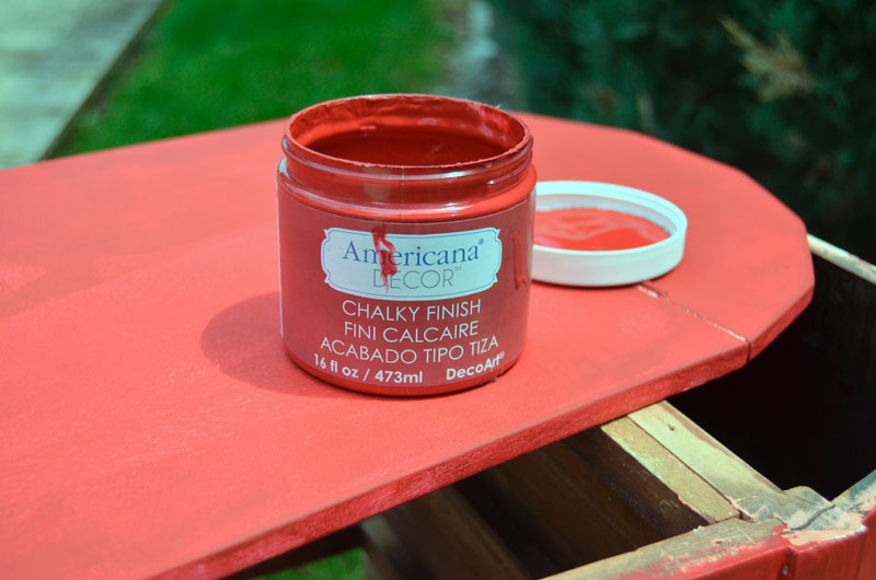 Americana® Decor Chalky Finish Paint in Rouge