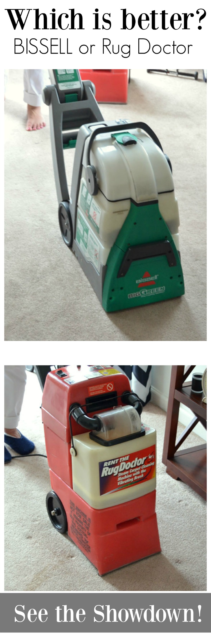 How to Deep Clean your Carpet. Find out which carpet cleaner rental machine is better