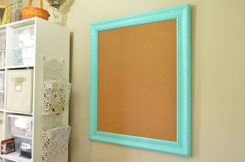 how to make a framed bulletin board