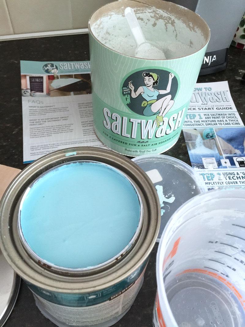 mix the saltwash™ into paint