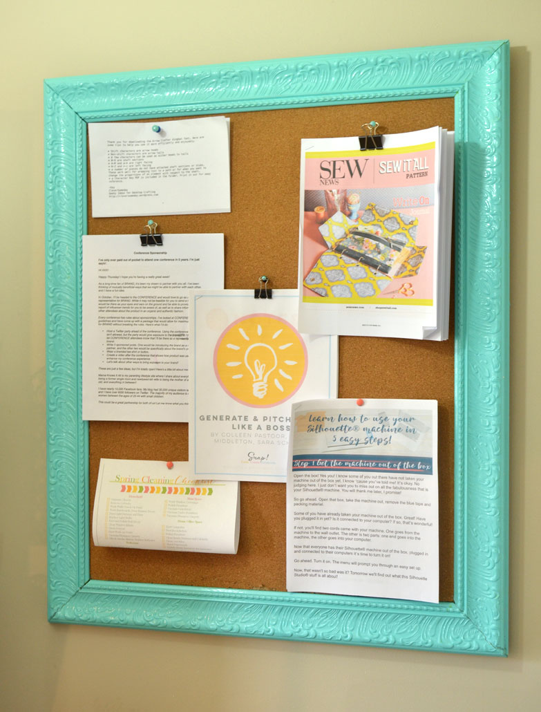 how to make a framed bulletin board with a repurposed frame