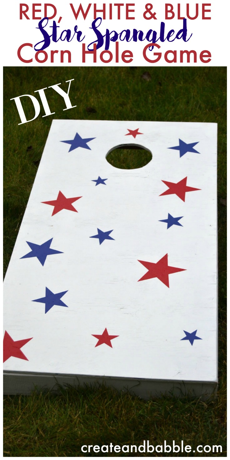How to make a patriotic cornhole game set