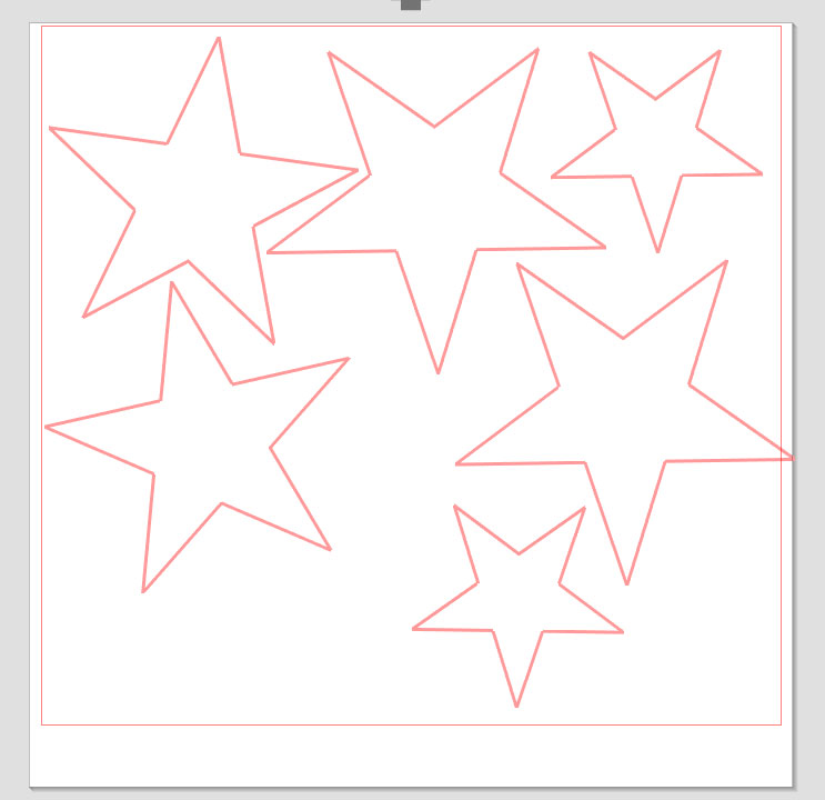 stars cut from vinyl using silhouette cameo