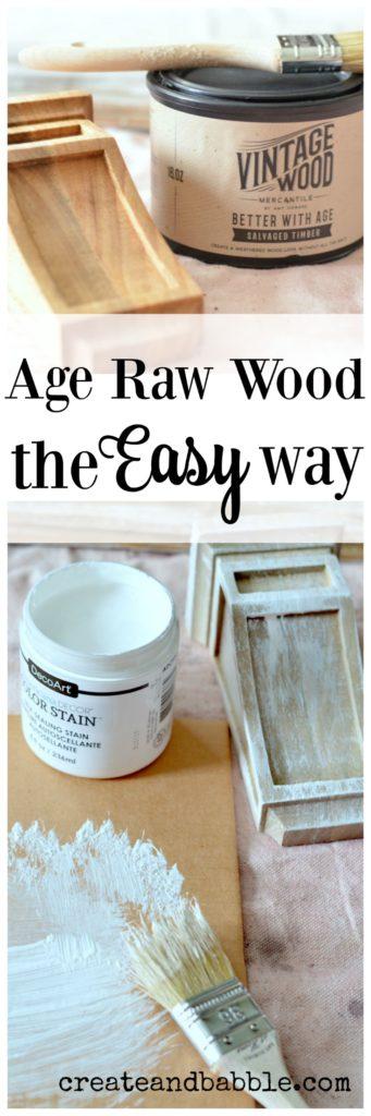 age raw wood pin