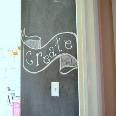Create a Chalkboard Wall