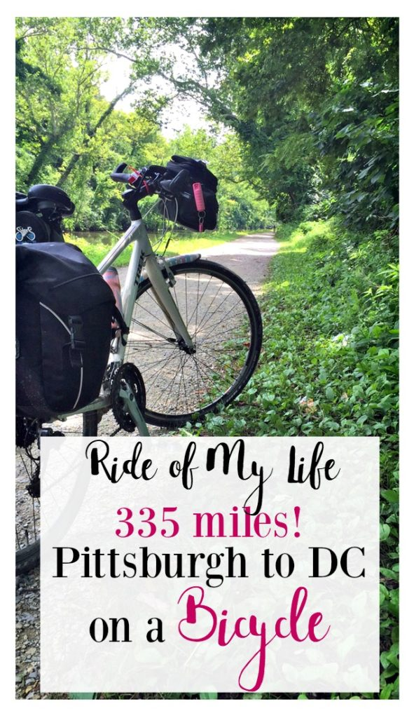 335 mile bike ride from Pittsburgh, PA to Washington, DC