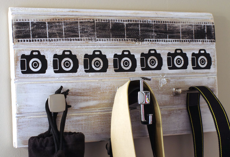 DIY Camera Accessory Wall Organizer