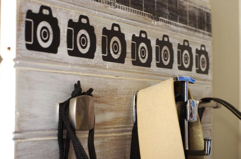 DIY Camera Accessory Wall Organizer