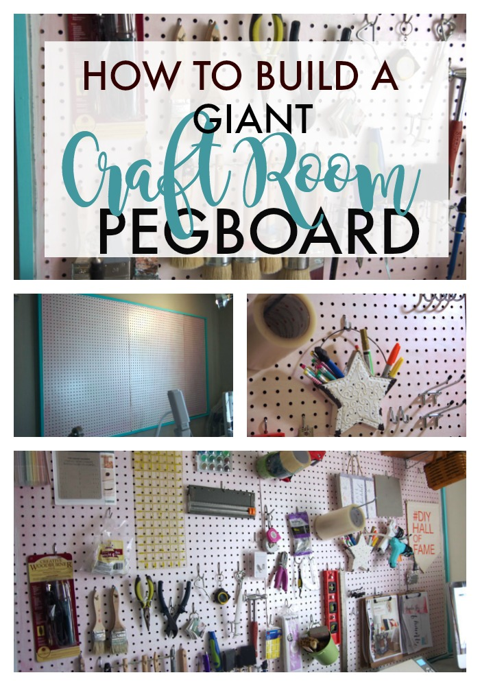 How to build a giant pegboard for Building a craft room