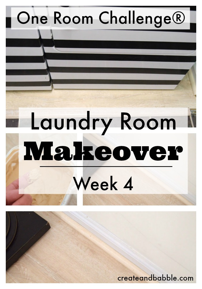 One Room Challenge Week 4 Laundry Room Makeover