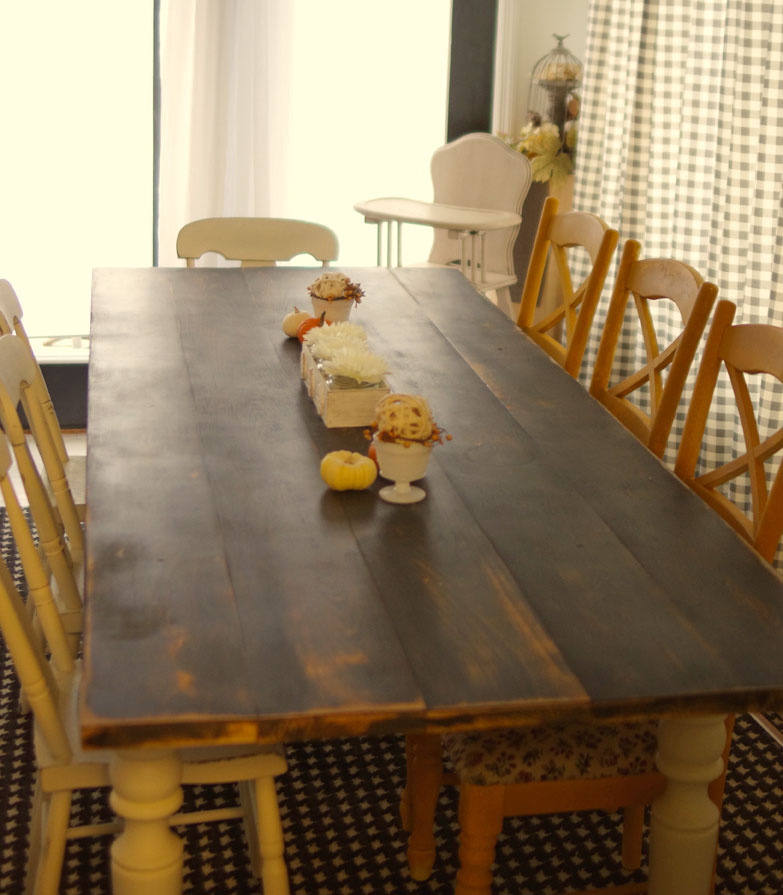 how to build a custom farmhouse table