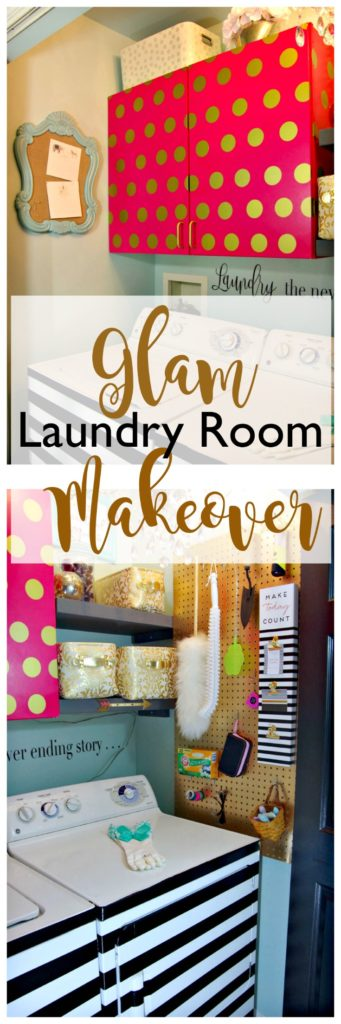 Glam Laundry Room Makeover One Room Challenge