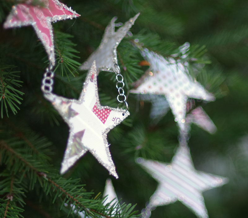 Glittered Star Garland