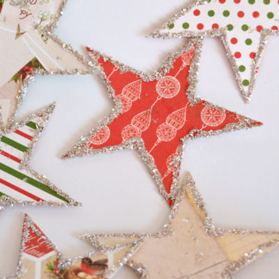 Handmade Holiday – Glittery Star Christmas Garland
