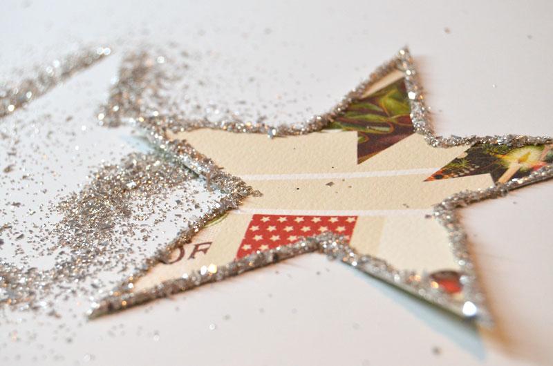 Glittery Star Garland