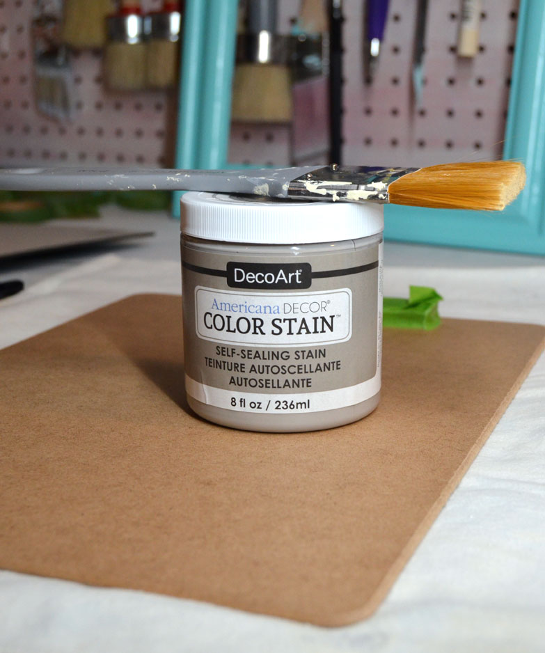 DIY Recipe Stand using DecoArt Color Stain