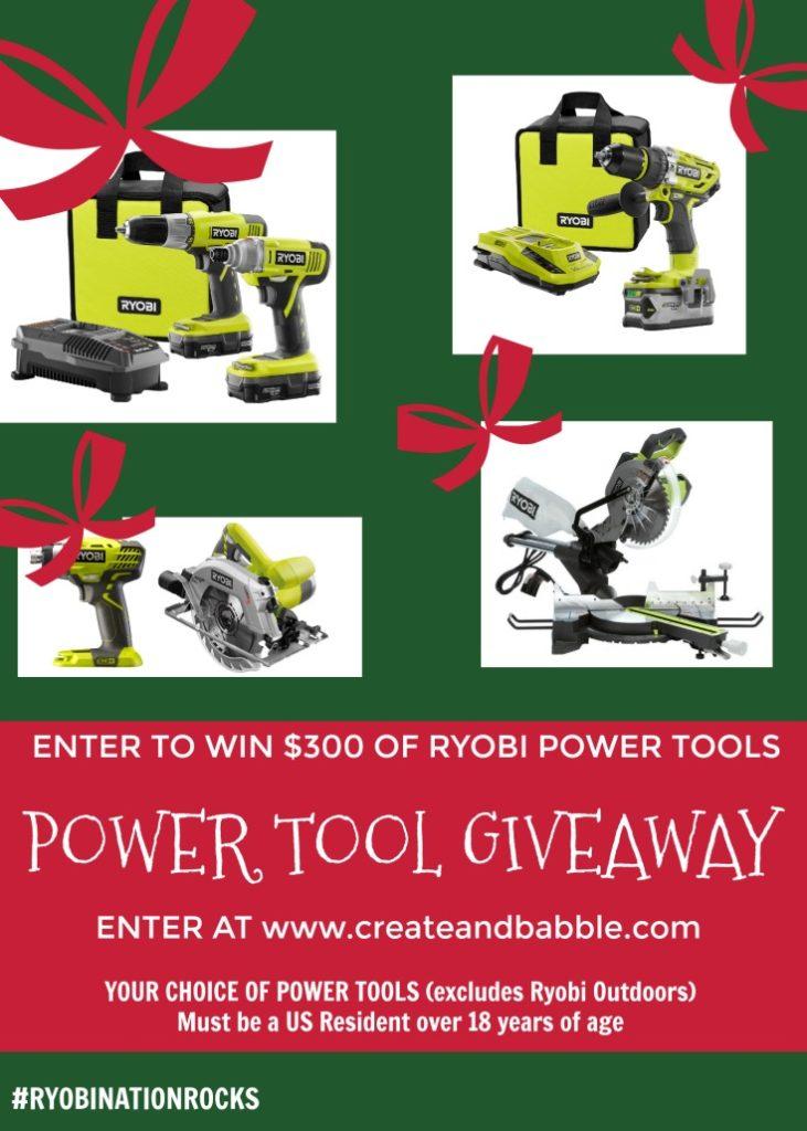 RYOBI Power Tool Giveaway