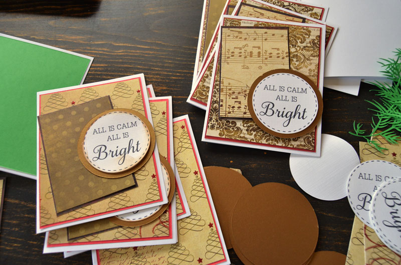 How to Make Handmade Christmas Cards using a Silhouette machine