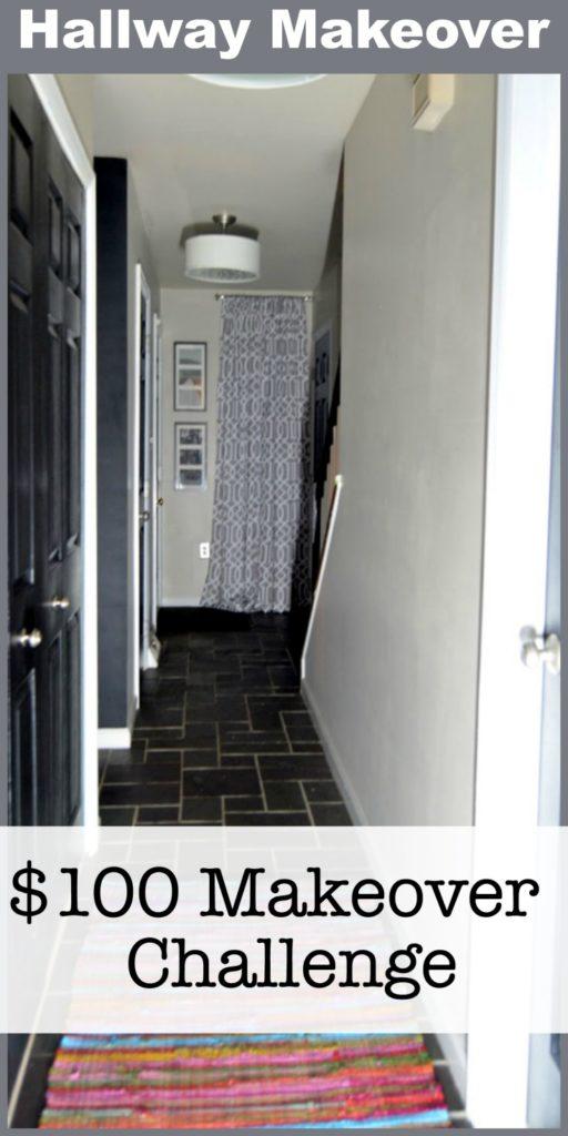 $100 Room Makeover Challenge - Hallway / Entry Makeover