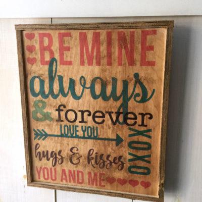 Free file for valentine subway art on wood