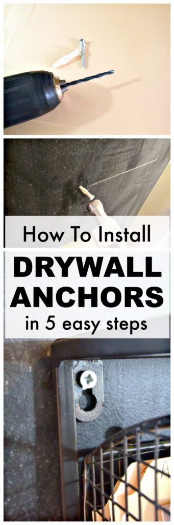 How to install drywall hangers. Learn how to hang up anything on your walls with this easy-to-follow step by step tutorial. Learn how to install drywall anchors in five easy steps