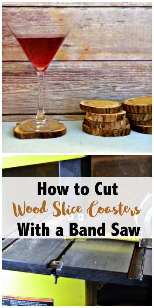 How to Cut Wood Slice Coasters with a band saw