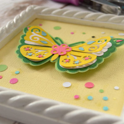 How to Make 3D Butterfly Wall Art