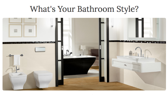 what is your bathroom style quiz create and babble