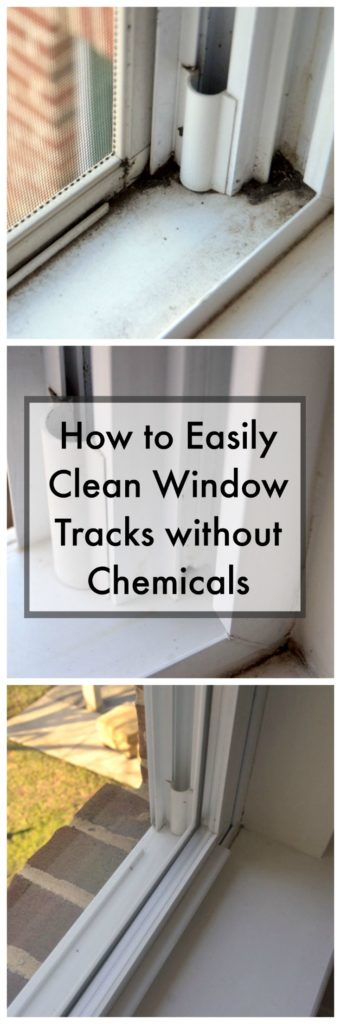 how to clean window tracks without chemicals
