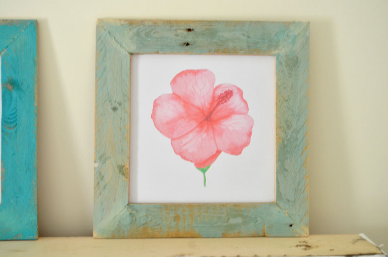 DIY-Pallet-Wood-Framed-Watercolor-Flower-Prints-3