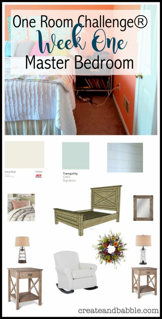 One Room Challenge Week One Master Bedroom Makeover
